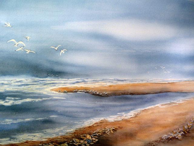Aquarel strand 02