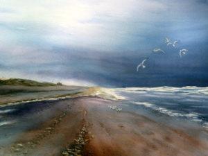 Aquarel strand 01