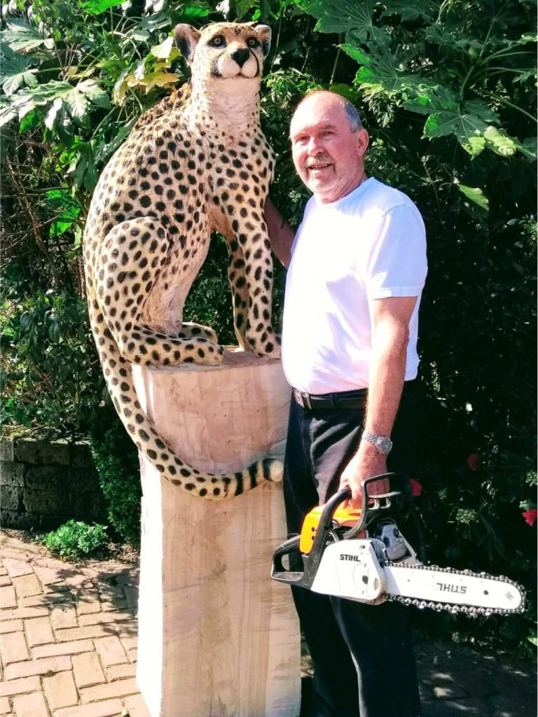 Houten beeld Cheetah